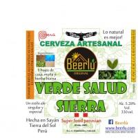 Beerlú Verde Salud Sierra (Hojas de coca, muña, hierba buena)